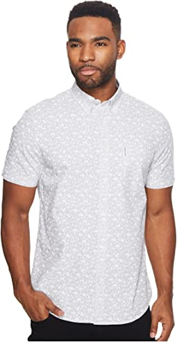 Ben Sherman - Short Sleeve End-End Floral Print Woven Shirt