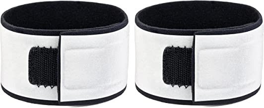 Reflective Wristbands (Pair) - Specifically Designed for Wrists - Bright, Comfortable, Lightweight, Neoprene - Large Refle...