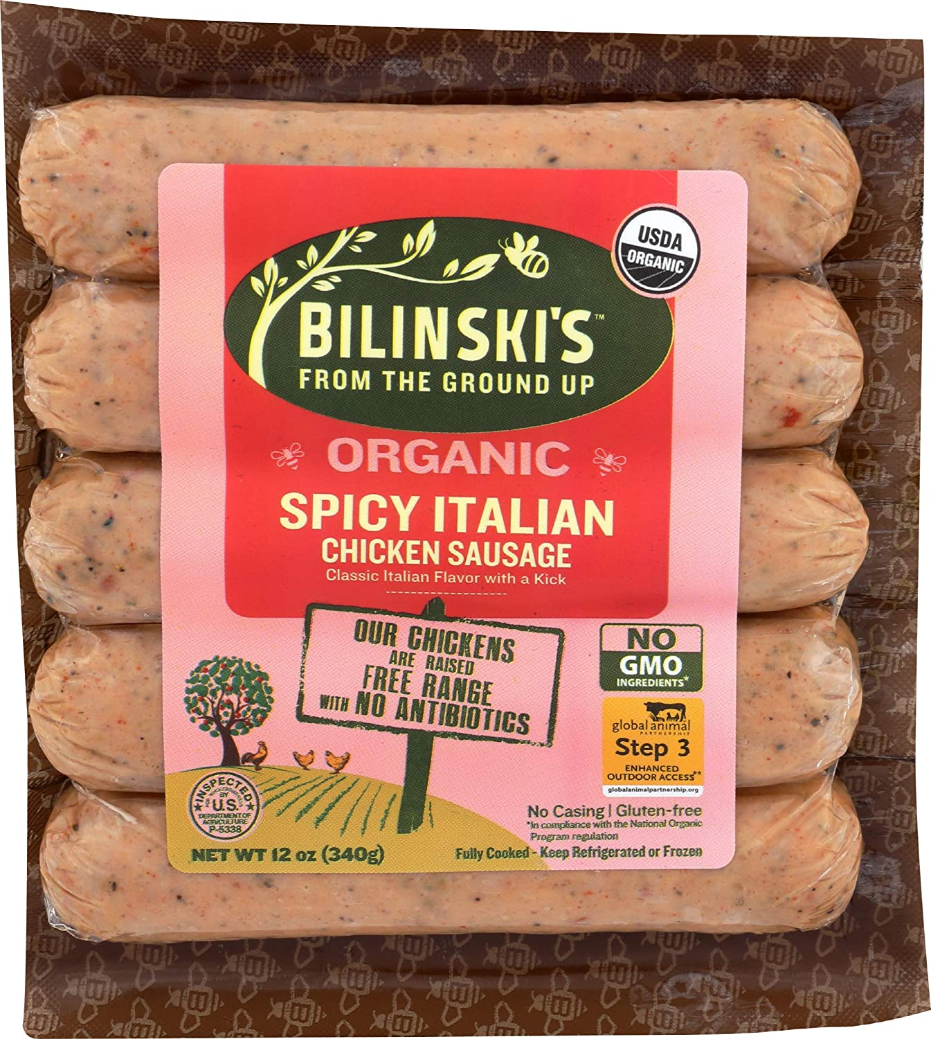Bilinski Organic Spicy At the price Italian Ounce Max 80% OFF 12 Sausage Chicken