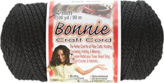 Pepperell Braiding Company BB4100042 Bonnie 4Mm 100Yd, Black