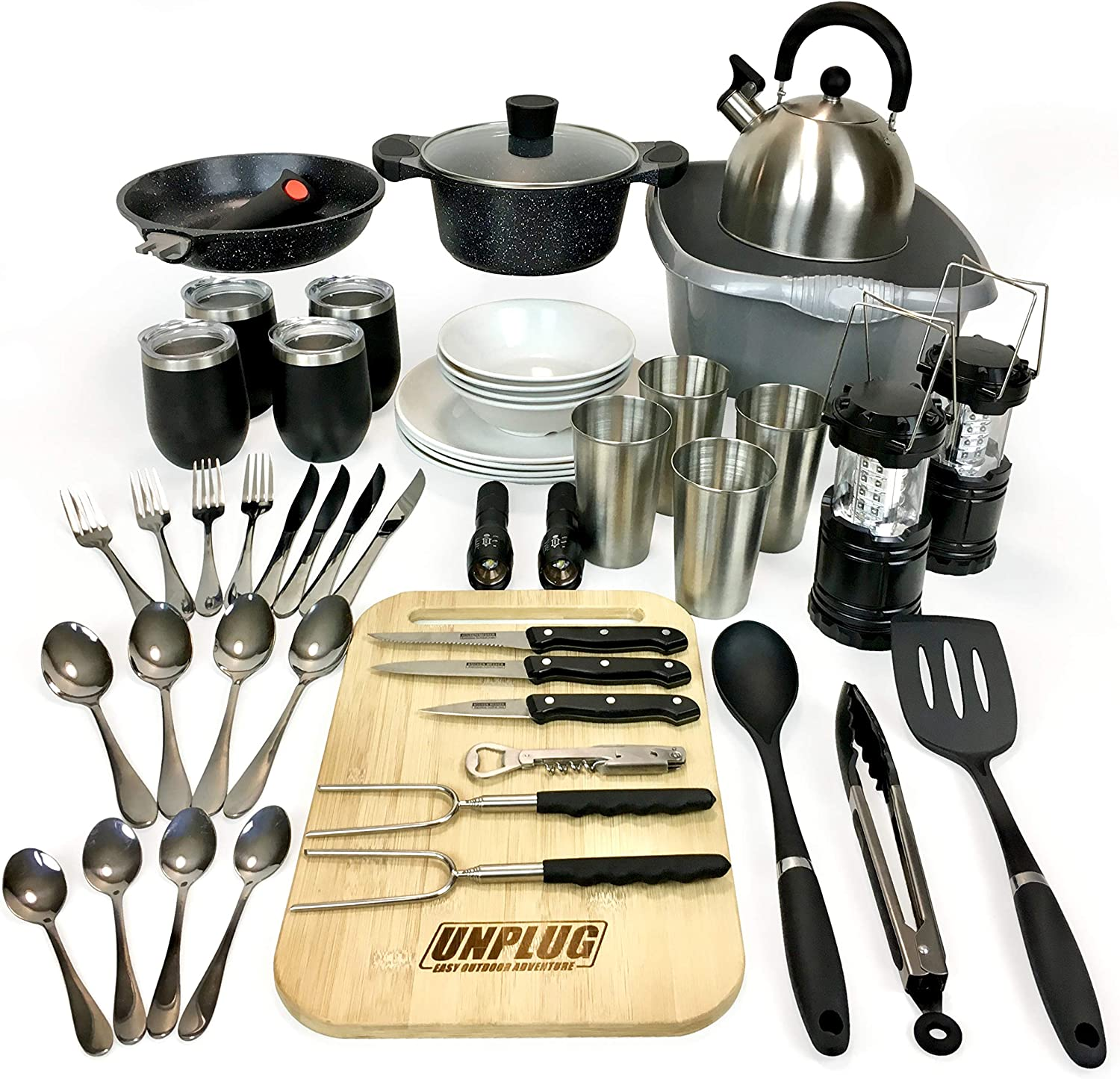CAMPING COOKWARE FOR FAMILY OF Nonstick Quality PACKAGE. Max 83% OFF 4 Campi Memphis Mall