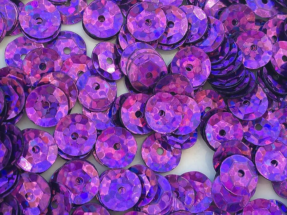 Sequins 8mm 1000/Pkg Crazy Dots Finish Purple
