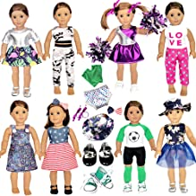 20 Pcs American Doll Clothes and Accessories fit American 18 inch Girl Dolls - Including 8 Complete Set Toys Doll Outfits ...