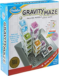 ThinkFun Gravity Maze Falling Marble Logic Game,1006