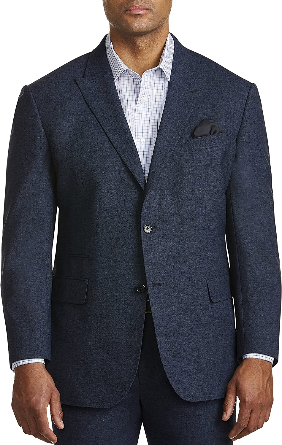 Synrgy by DXL Big and Tall Jacket-Relaxer Performance Lange Suit Jacket, Blue