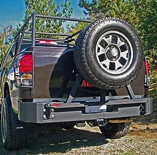 Body Armor 4x4 TN-2961 Black - Steel Rear Bumper for 2007-2013 Toyota Tundra