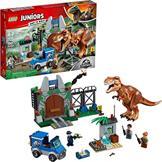 LEGO Juniors/4+ Jurassic World T. rex Breakout 10758 Building Kit (150 Pieces)