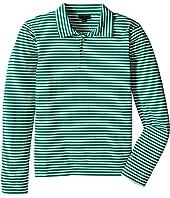 Oscar de la Renta Childrenswear - Stripe Long Sleeve Polo (Toddler/Little Kids/Big Kids)
