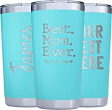 Personalized Tumblers w/Splash Proof Lid - 20oz - Vacuum Insulated Travel Coffee Mugs - Stainless Steel Double Wall Tumbler - Personalized Cups - Gifts for Her, Women, Men w Name #T47