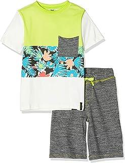 Set T-Shirt E Bermuda Jersey Tucano Bambino Verde Tropical Jungle