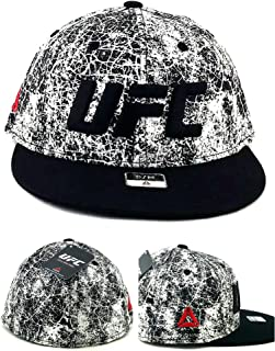 727084e4e8c Reebok UFC New MMA Fighters Flex Black White Cracked Era Fit Fitted Hat Cap  S