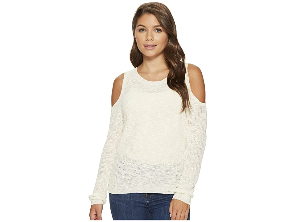 Roxy Unlimited Travel Cold Shoulder Sweater (Marshmallow) Women