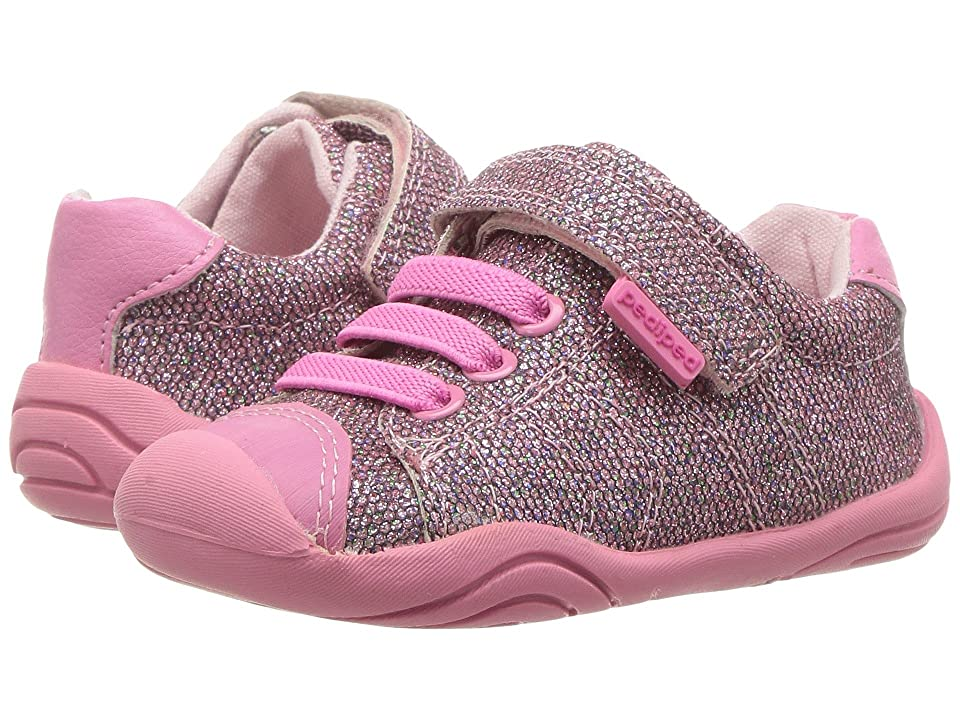 pediped Jake Grip n Go (Toddler) (Pink Sparkle) Girls Shoes
