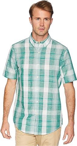 Short Sleeve Cotton Linen Woven Shirt