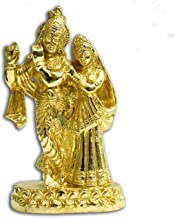 Brass Radha Krishna Standing Idol (Height: 15 cm; Weight: 0.7 kgs)- VRINDAVANBAZAAR.COM