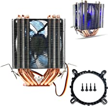 AVC 6 Pipes Aluminum LED CPU Cooler Fan Heat Sink for Intel LAG1156/1155/1150/775
