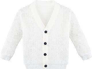 Lilax Baby Boys Basic Long Sleeve V-Neck Classic Knit Cardigan Sweater