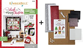 Kimberbell Machine Embroidery Book w/CD: We Whisk You A Merry Christmas KD806 Plus Embellishment Kit KDKB166