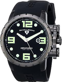 Swiss Legend Men's 30021-PHT-SH-WD Ambassador Analog Display Swiss Quartz Black Watch