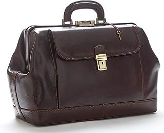 D&D Doctor's Bag - Borsa medico in classica pelle vitello tamponata a mano, prodotta esclusivamente in Italia 41X16Xh29 cm