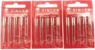 Singer Sewing Machine Needles 2020 Red Band Size 11/80 (30 Count)