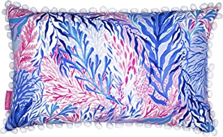 Lilly Pulitzer Indoor/Outdoor Medium Decorative Pillow, Kaleidoscope Coral