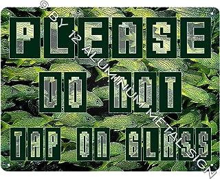 AQUARIUM Warning METAL SIGN Please do not tap on fish tank wall decor retro art 909