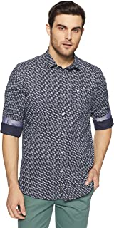 blackberrys Men's Printed Slim Fit Casual Shirt