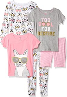 Carter's 's Little Girls' Set de 5 Piezas de algodón Snug-fit Pijama