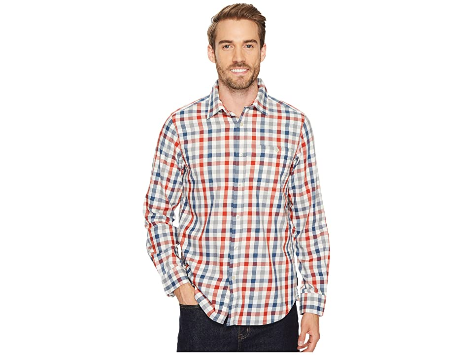 The North Face Long Sleeve Hayden Pass Shirt (Shady Blue Plaid) Men