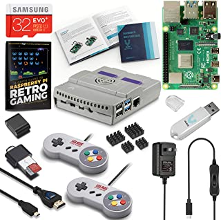 Vilros Raspberry Pi 4 SNES Stlye Retro Gaming Kit-Includes 2 SNES Style Gamepads and SNES Style Case (2GB RAM)