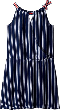 Tommy Hilfiger Kids Wrap Drop Waist Dress (Big Kids)