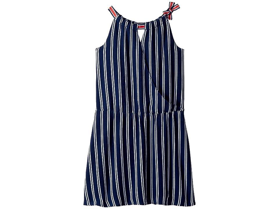 Tommy Hilfiger Kids Wrap Drop Waist Dress (Big Kids) (Flag Blue) Girl