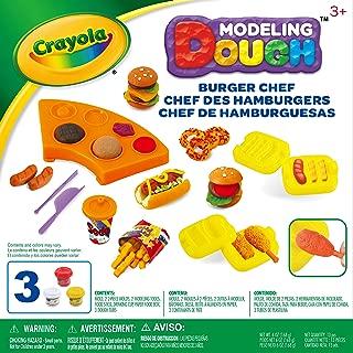 Crayola 模塑面面团汉堡厨师套装 - 11 件