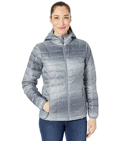 Columbia Voodoo Falls 590 TurboDown Hooded Jacket (Grey Ash Spotty Ombre Print) Women
