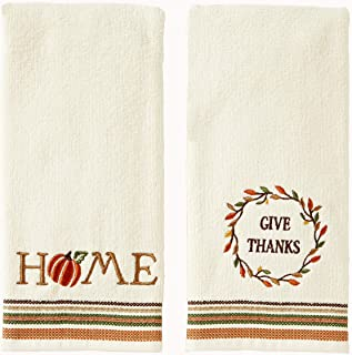 SKL Home by Saturday Knight Ltd. Give Thanks/Home Hand Towel Set, Natural