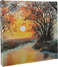 Canvas art painting for wall, Design of River sunset oil painting, CANVS20-180105
