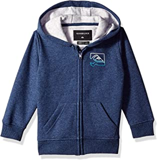 Quiksilver Children (youths) Diamond Zip Boy Medieval Blue Heathe Hoodie Size 6