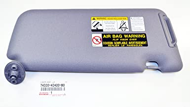 Genuine Left Hand (Drivers) Grey Sunvisor 74320-42420-B0 is Compatible with 2004-2005 Toyota RAV4