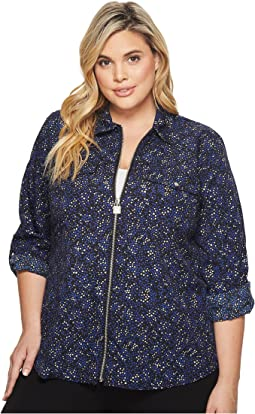 MICHAEL Michael Kors - Plus Size Shooting Stars Foil Top