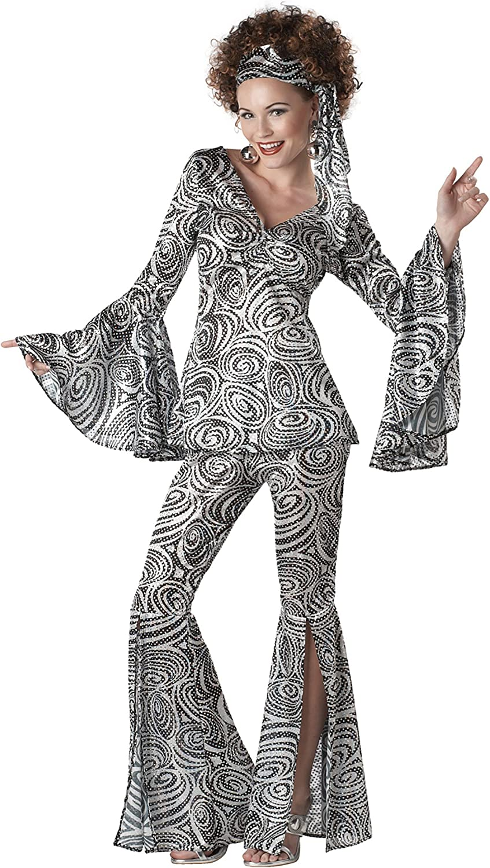 Plus Size Women's Foxy Lady Disco Fancy Dress Costume 2X