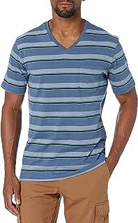 Amazon Brand - Goodthreads Men's Short-Sleeve Sueded Jersey V-Neck Pocket T-Shirt