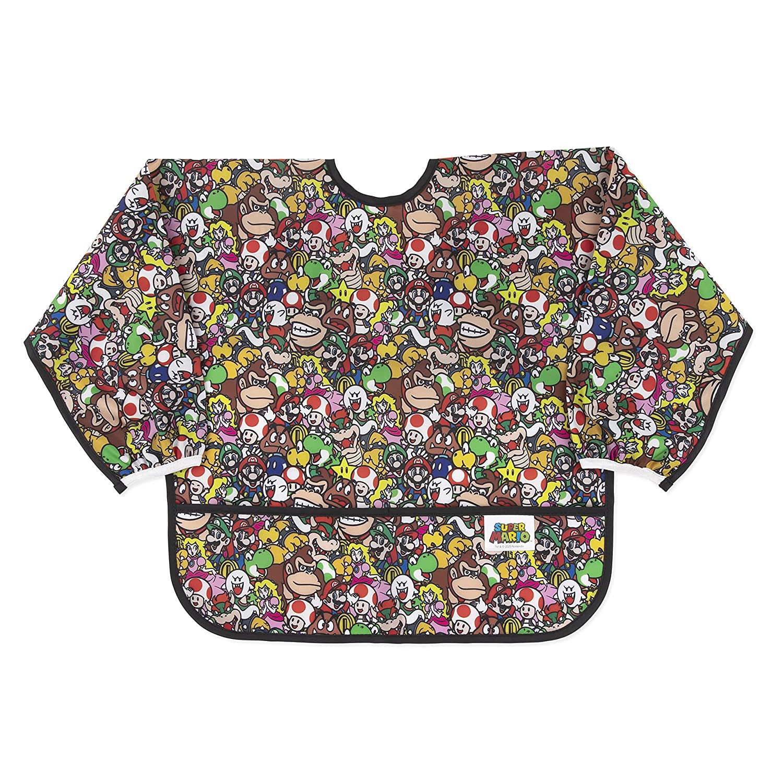 Bumkins Sleeved Bib Baby Virginia Beach Mall Waterproof Fab Japan's largest assortment Toddler Smock