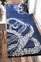 nuLOOM Octopus Tail Abstract Wool Runner Rug, 2' 6