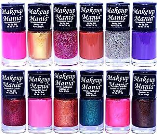 Makeup Mania Nail Polish Set of 12 Pcs, Nail Paint of 6ml each x 12 Pcs, MultiColor Combo Set No.105