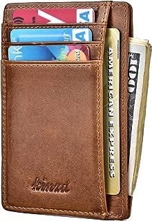 Slim Wallet RFID Front Pocket Minimalist Leather Wallet thin Card Holder