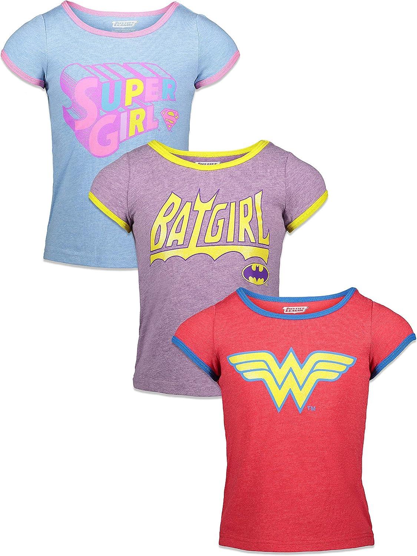 4 years warranty DC Over item handling ☆ Comics Justice League Batgirl Supergirl Woman Pack 3 Wonder T