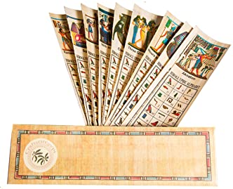 Egyptian Papyrus Paper Set of 10 Bookmarks Book Marks History Educational Set.