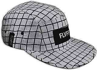 FLVFF 5 Panel Hats for Men Women Flat Brim Fashion Floral Print Adjustable Casual Street Cool Designs