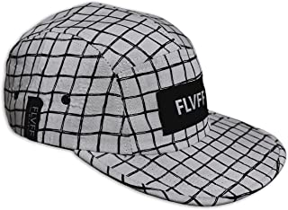 FLVFF 5 Panel Hats for Men Women Flat Brim Fashion Floral Print Adjustable Casual Street Cool Designs